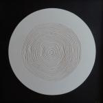 lignes de vie platre cercle blanc bas relief anais preaudat