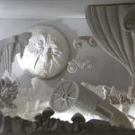 Décors Méliès en plâtre, 120 cm de longueur, 100cm de hauteur, 100 cm de profondeur.