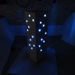 Sculpture lumineuse en plâtre