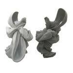 Création de sculptures de robes grande échelle pour Orlan, en polystyrène, fibre polyester.