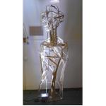 Sculpture Emilie, 1m90 exposée à la fête d ela lumière à Lyon en 2009