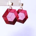 boucle oreilles cubes rose plexi anais preaudat