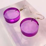 Boucle d'oreilles Cylindre violet2
