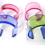 bracelet plexiglas rose bleu vert anais preaudat