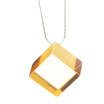 collier cube orange plexi anais preaudat