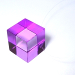 collier cube violet plexi anais preaudat
