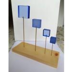 Sculpture Carrés bleus