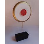 sculpture plexiglas platre cercle lumineux rose anais preaudat
