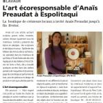 Article L'Echo du Tarn espolitaqui anais preaudat