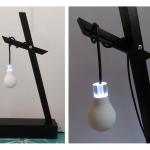 Sculpture lumineuse Ampoule
